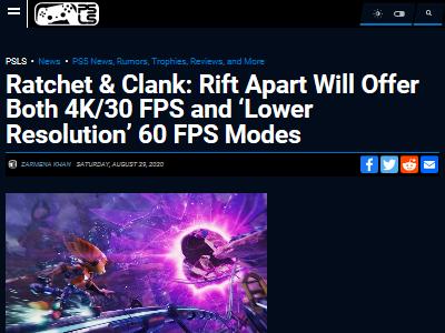 PS5 ラチェット&クランク 解像度 フレームレートに関連した画像-02