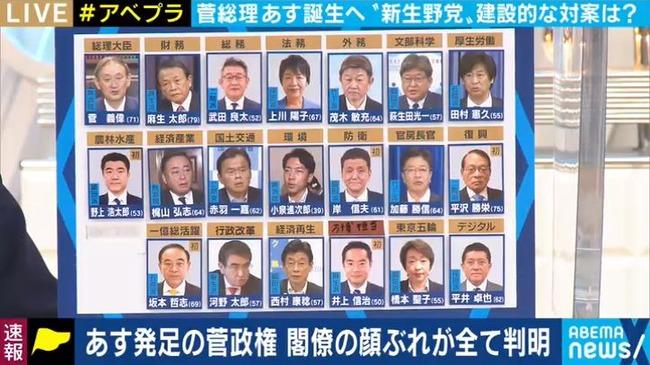 菅内閣 閣僚 人事 自民党に関連した画像-08
