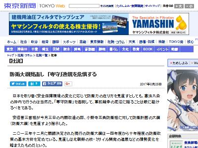 ミサイル 迎撃 北朝鮮 東京新聞に関連した画像-02
