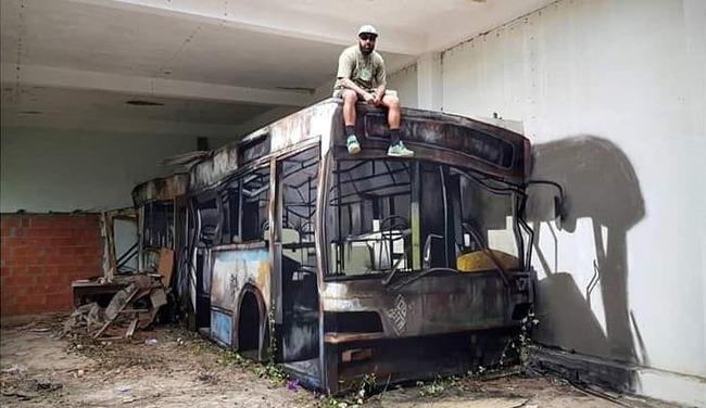 だまし絵 トリックアート バスに関連した画像-01