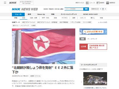 北朝鮮ミサイル3月21日に関連した画像-02