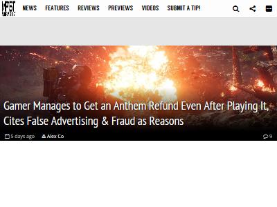 Anthem アンセム 偽装 広告 詐欺 返金に関連した画像-02