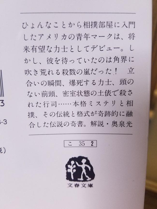 小説 大相撲殺人事件 相撲 あらすじ 力士に関連した画像-02