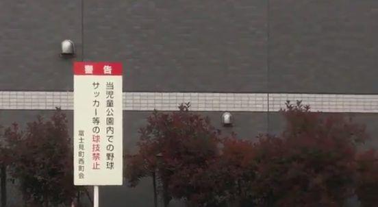 公園 看板 禁止事項 サッカー 野球に関連した画像-02