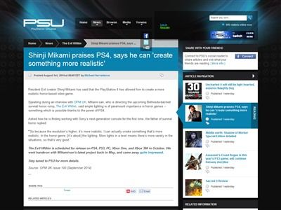 三上 サイコブレイク PS4に関連した画像-02