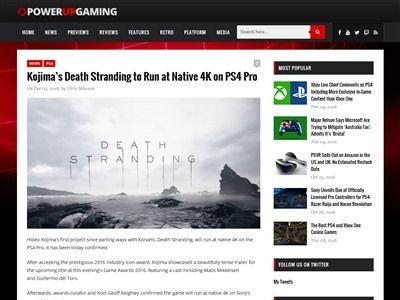 小島監督 デスストランディング PS4Pro ネイティブ 4Kに関連した画像-02