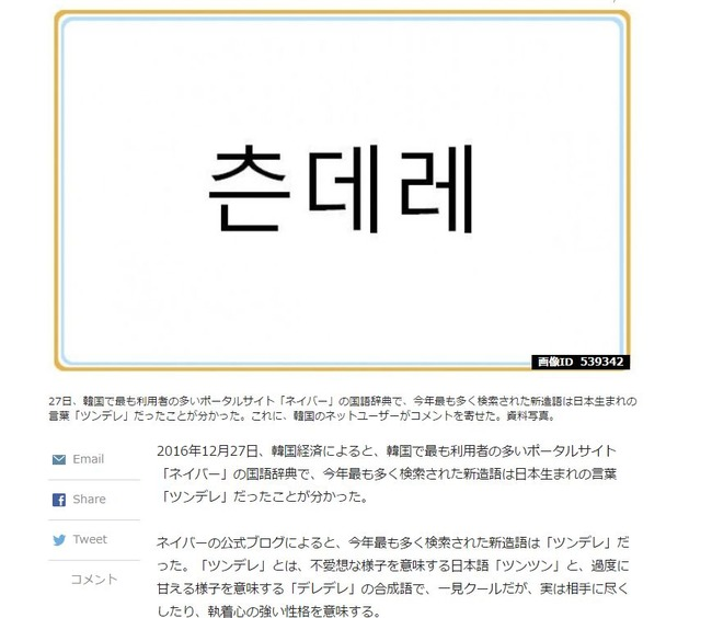 韓国 新造語 日本 日本語 ツンデレに関連した画像-02