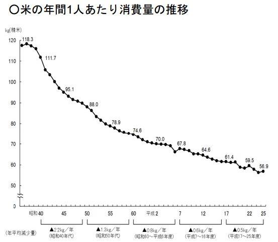 ご飯 米 米離れ 消費量 農林水産省に関連した画像-04