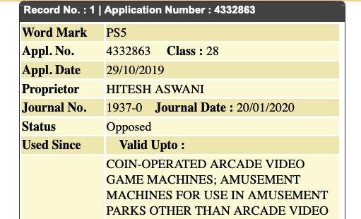 ソニー SONY PS5 プレイステーション 商標 インドに関連した画像-03