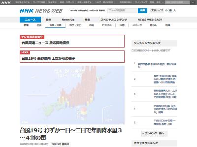 台風19号 年間降水量 4割に関連した画像-02