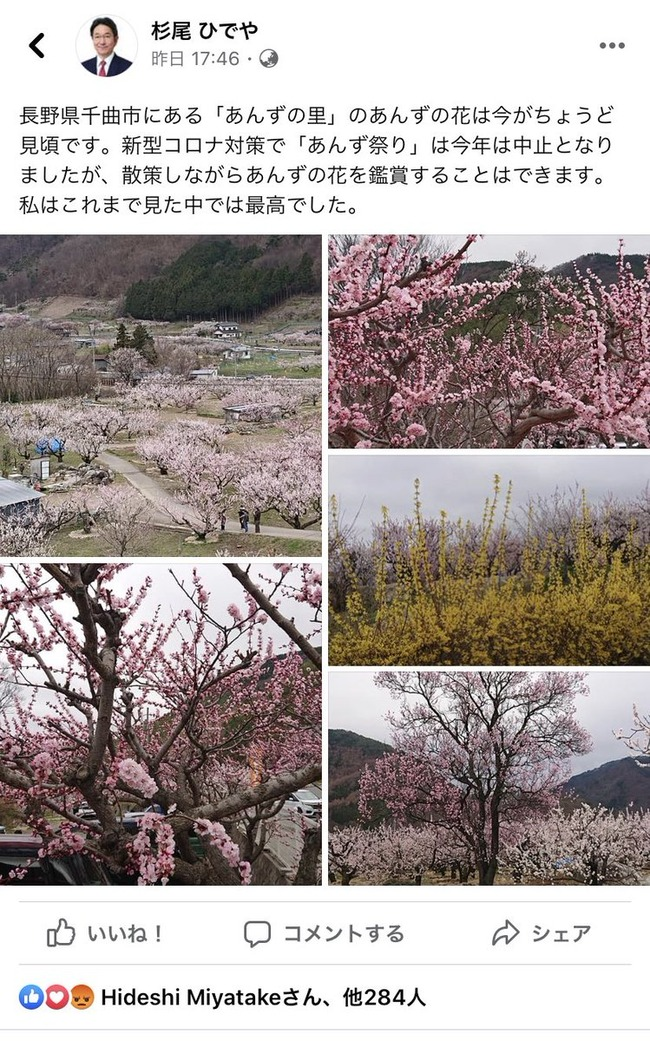 安倍昭恵 花見 桜を見る会 立憲民主党 杉尾秀哉 ブーメランに関連した画像-02