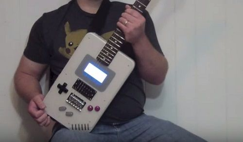 ゲームボーイ ギター ファン 海外 自作 楽器 任天堂 ポケモン 音楽 エフェクターに関連した画像-01