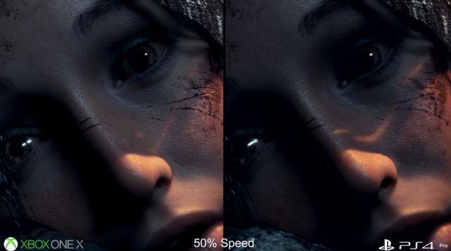 PS4Pro XboxOneX グラフィック 比較 ライズオブトゥームレイダー ハードに関連した画像-10