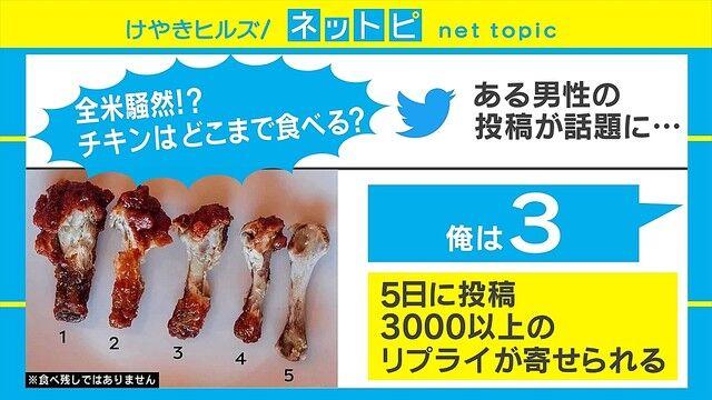 骨付き チキン 食べ方 議論 勃発 有名人に関連した画像-03