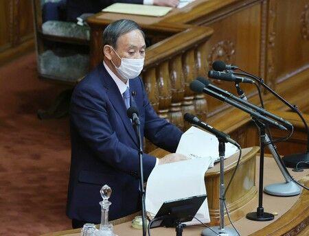 菅義偉 国会 答弁 政府 批判 代表質問 に関連した画像-01