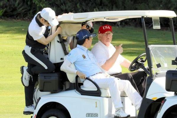 朝日新聞 安倍総理 トランプ大統領 ゴルフ 運転手 ブーメランに関連した画像-03