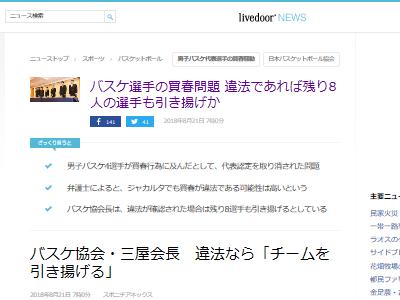 加藤浩次 バスケ日本代表 買春 擁護 炎上に関連した画像-02