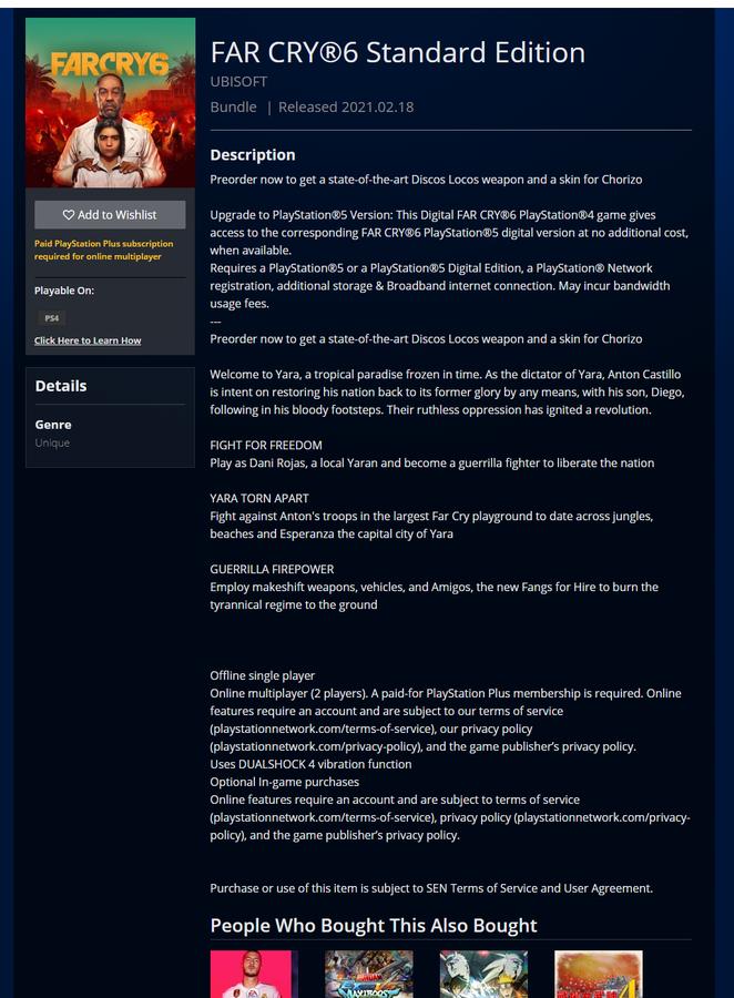 ファークライ6 リーク 動画 PSN Ubisoftに関連した画像-03