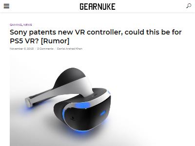 ソニー VR PSVR コントローラー 特許に関連した画像-02