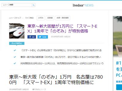 新幹線 スマートEX のぞみに関連した画像-02