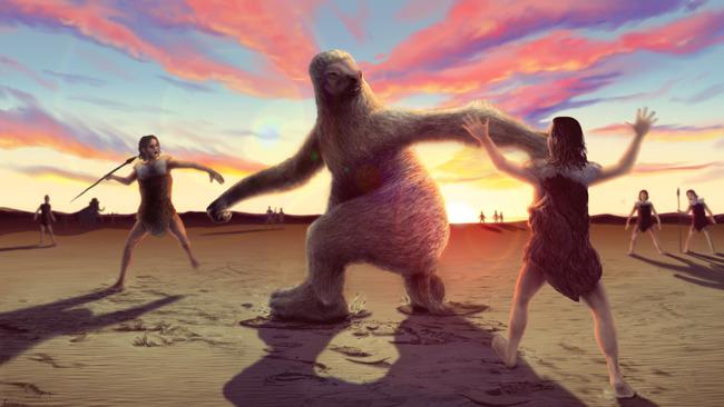 古代人 巨大ナマケモノ 死闘に関連した画像-03