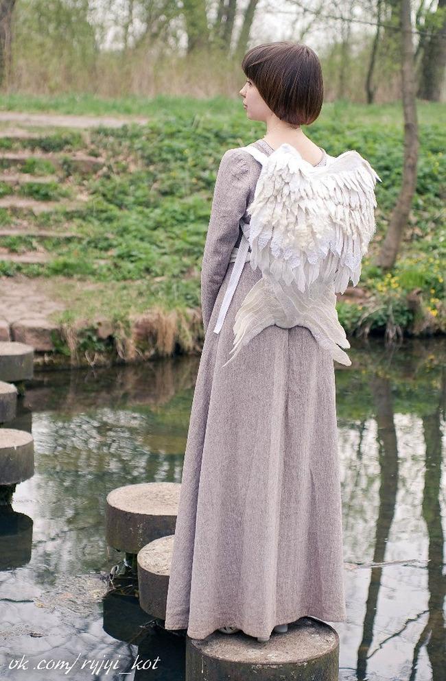 羽 バックパック 鳥の羽 リュックサック 鞄に関連した画像-09
