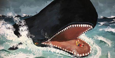 クジラ くじら ピノキオ 口 飲み込まれる 脱出 生還に関連した画像-01