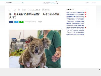 オーストラリア 森林火災 動物 被害 30億匹に関連した画像-02