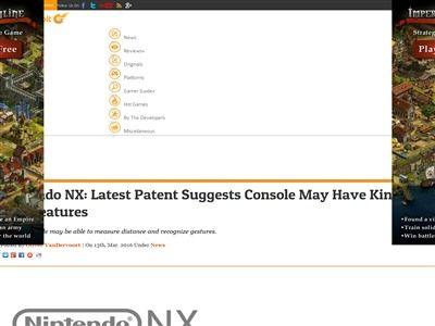 NX キネクト Kinect 任天堂 特許に関連した画像-02