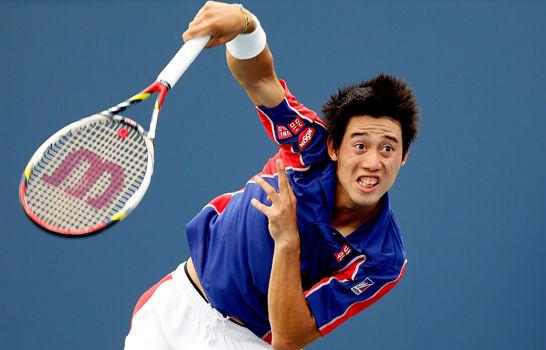 """テニス・錦織圭選手、格下の韓国人選手との試合で思うように動けずラケットを破壊!→審判に""""要注意選手""""に指定されてしまう"""