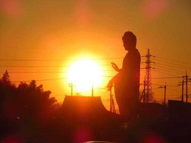 牛久大仏 波 かめはめ波 波動拳 太陽 写真に関連した画像-04
