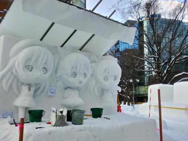 ラブライブ 雪像 札幌雪まつりに関連した画像-03