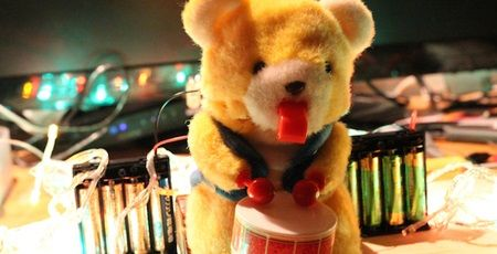 太鼓 クマのおもちゃ 改造 高速 モーターに関連した画像-01