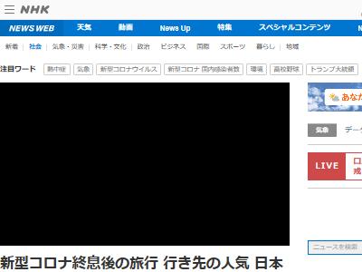 新型コロナ終息後 海外旅行 行きたい国 1位 日本 清潔に関連した画像-02