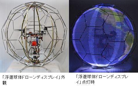 ドコモ 浮遊球体ドローンディスプレイに関連した画像-03