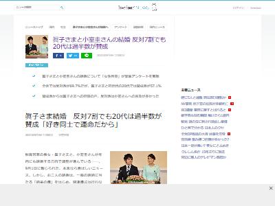 眞子さま結婚賛成反対アンケートに関連した画像-02