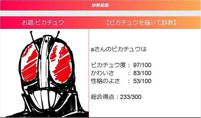 ピカチュウ 絵 診断 サイト 仮面ライダーに関連した画像-05