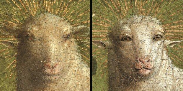 絵画修復 子羊 不気味に関連した画像-03