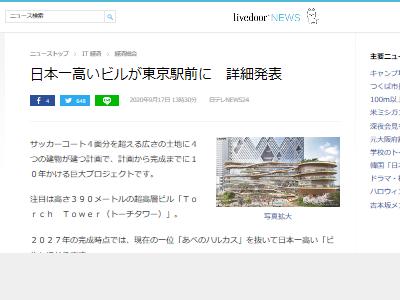 日本一 ビル トーチタワー 東京駅に関連した画像-02