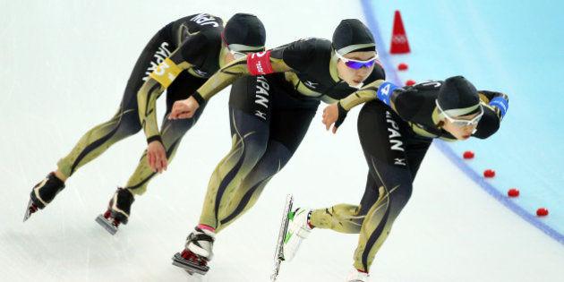 【速報】スピードスケート女子団体パシュートで日本金メダル!!