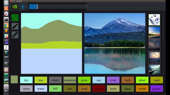 落書き 風景 写真 変換 GauGAN NVIDIAに関連した画像-03