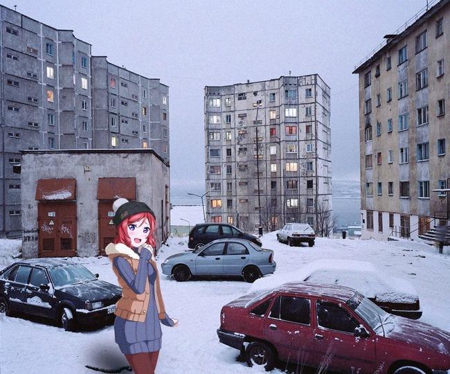 アニメ 実写 コラ 現実世界 ロシア 流行に関連した画像-09