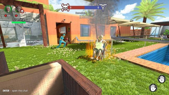 自殺 車椅子 老人 看護師 非対称 マルチプレイ Steam 4人 ステイン・アライブ Stayin'Aliveに関連した画像-01