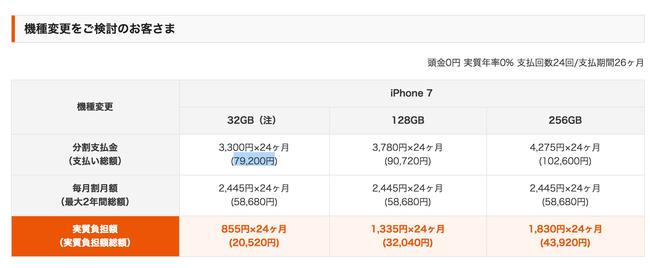 iPhone7 端末価格 au ドコモ ソフトバンクに関連した画像-02