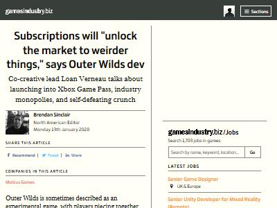 サブスクリプションシステム OuterWilds Gamepassに関連した画像-02