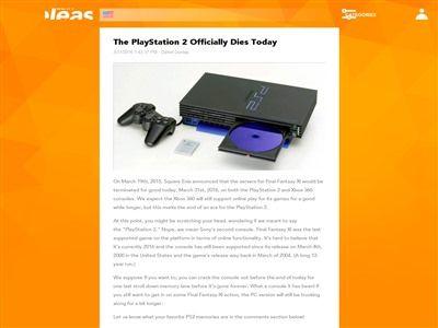 PS2  ファイナルファンタジー11 訃報に関連した画像-02