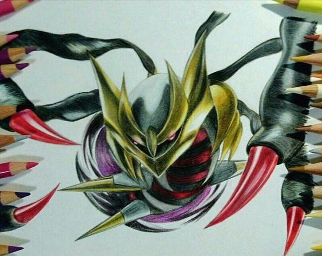 色鉛筆 ギラティナに関連した画像-02