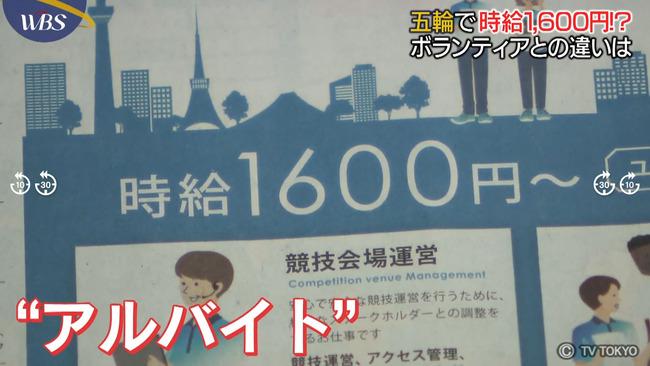 五輪スタッフを日当1万2千円で募集していた派遣会社、国からは日当20万円で請け負っていたことが発覚、驚異の中抜き率95%