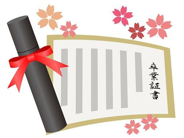 卒業証書 退職 校長 村立東海中学校に関連した画像-01