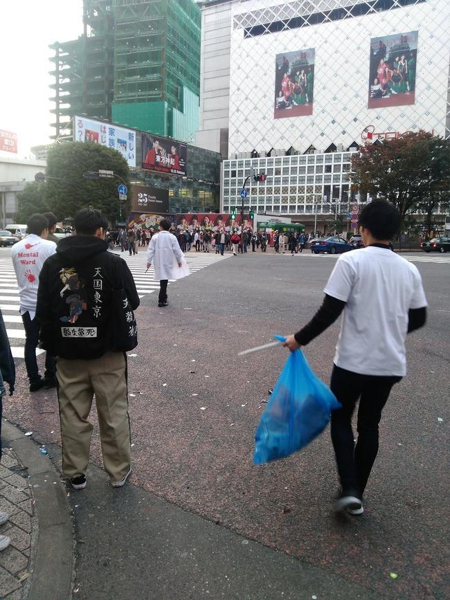 ハロウィン 渋谷 ゴミ ポイ捨てに関連した画像-04